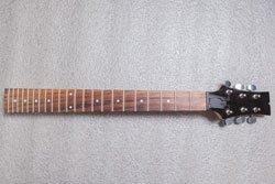 Guitar neck top view
