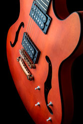 Hollow body electric guitar with humbuckers